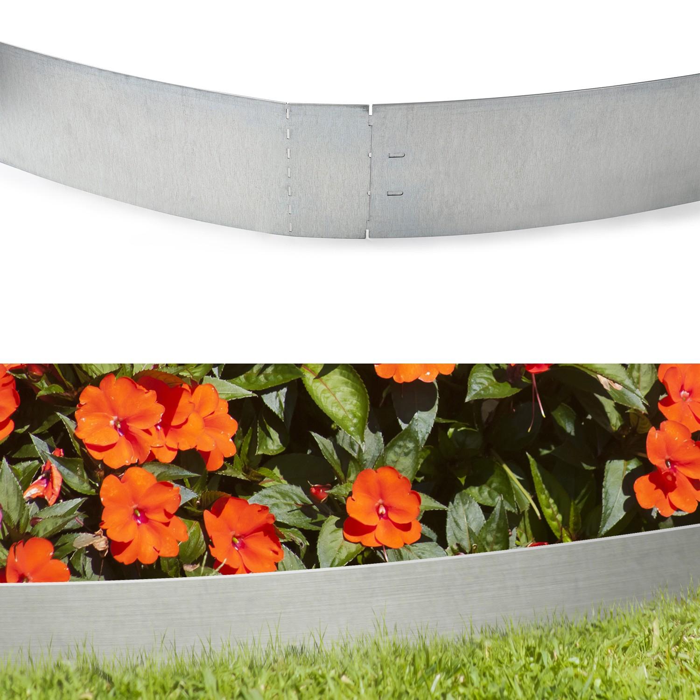 0.14 M Idmarket Bordurette De Jardin X5 En Acier L 5 M X H ... avec Bordurette De Jardin