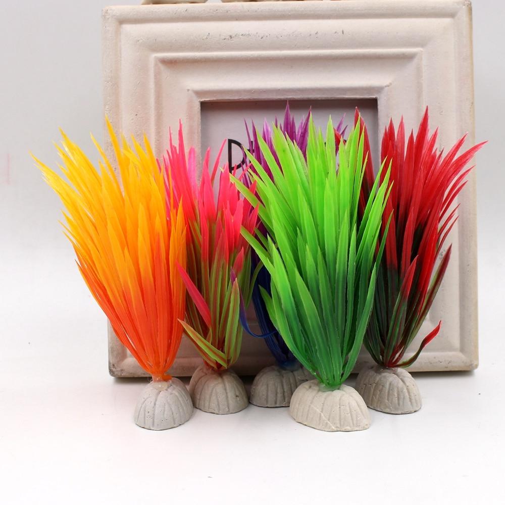 10 Adet Yapay Çiçekler Diy Ev Akvaryum Plastik Sucul ... destiné Salon De Jardin Hawai
