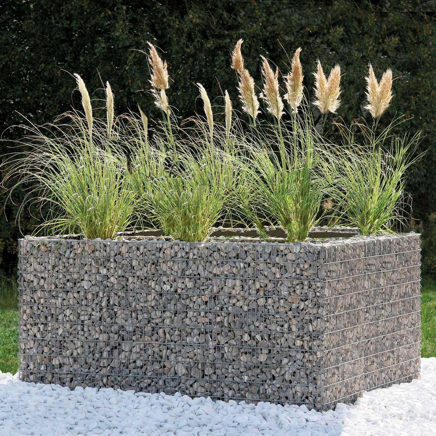 100+ [ Mur Cailloux Grillage ]   Beautiful Cloture Jardin ... tout Cailloux Décoration Jardin