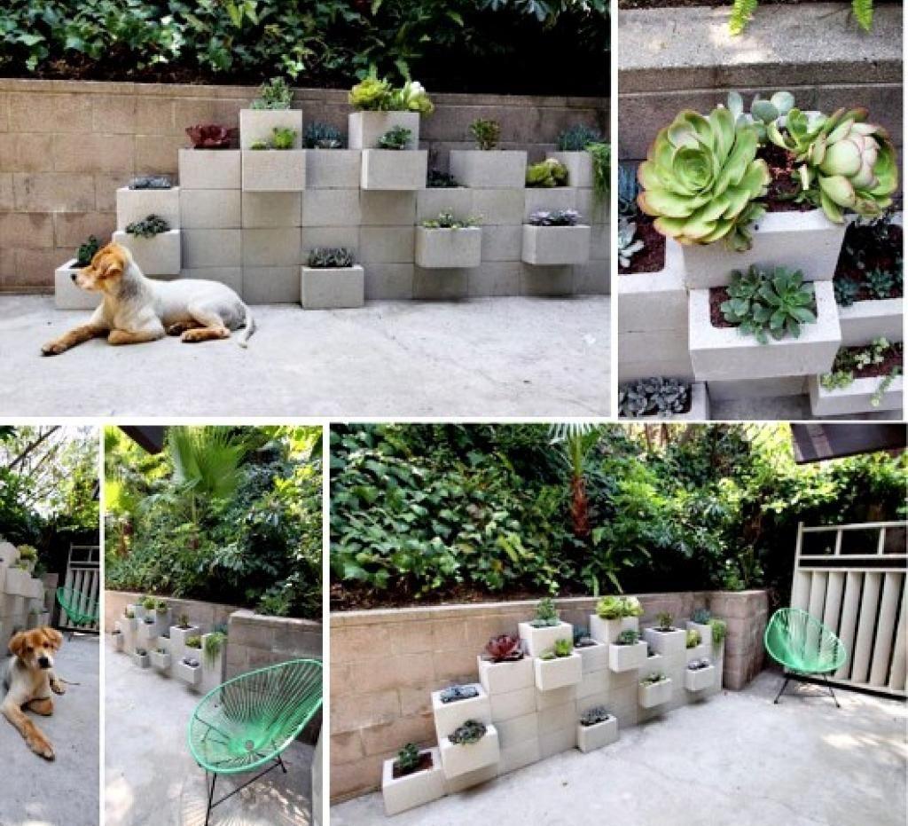 12 Avantages À Faire Son Jardin Avec Des Blocs De Béton ... destiné Jardinieres Beton Pour Jardin
