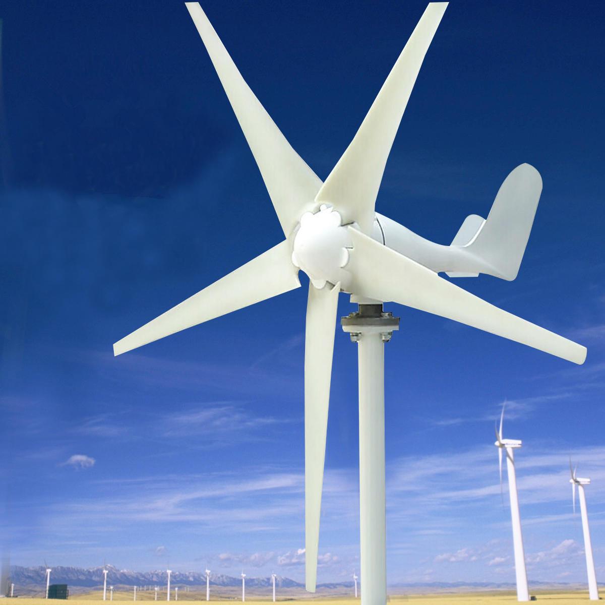 12V/24V 400W S3 Aluminum Coque 3/5 Lames Petite Éolienne Horizontale  Aérogénérateur Ne-400S2 à Petite Éolienne De Jardin