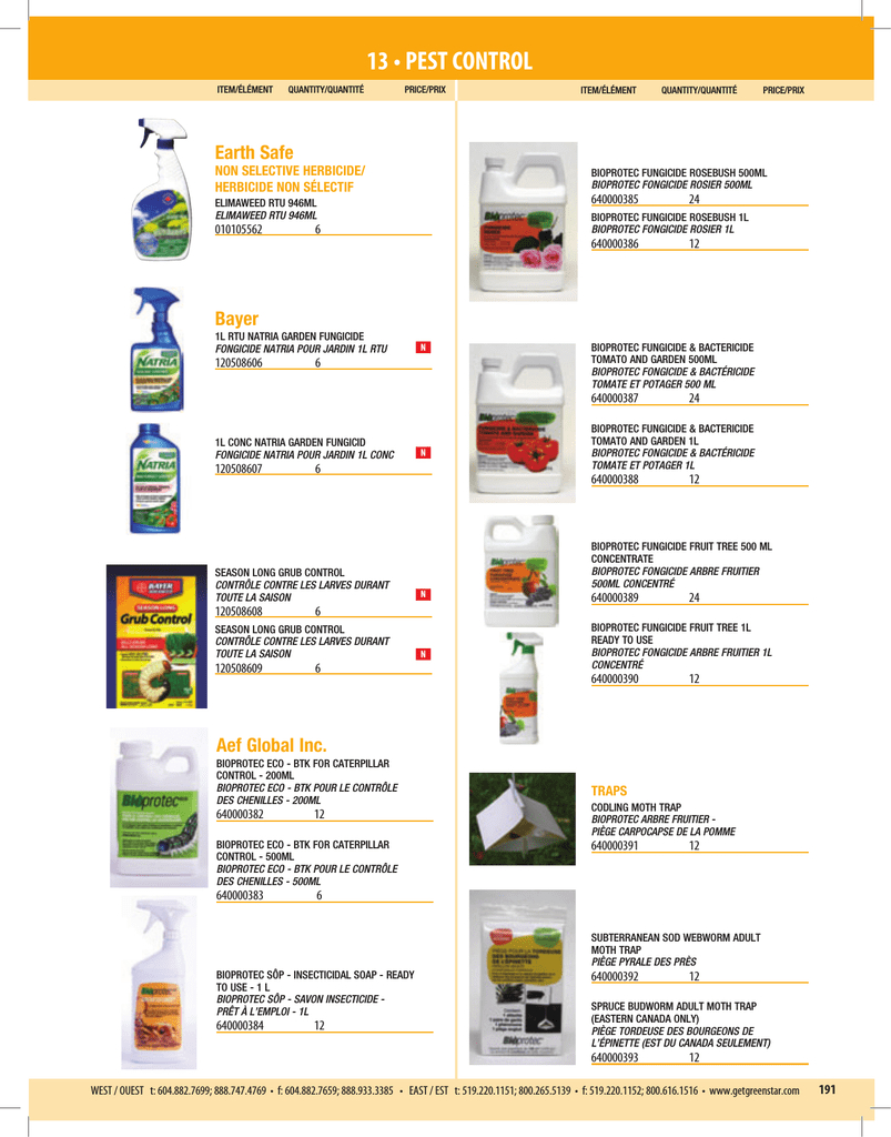 13 • Pest Control - Greenstar Plant Products Inc. concernant Bayer Jardin Desherbant Gazon