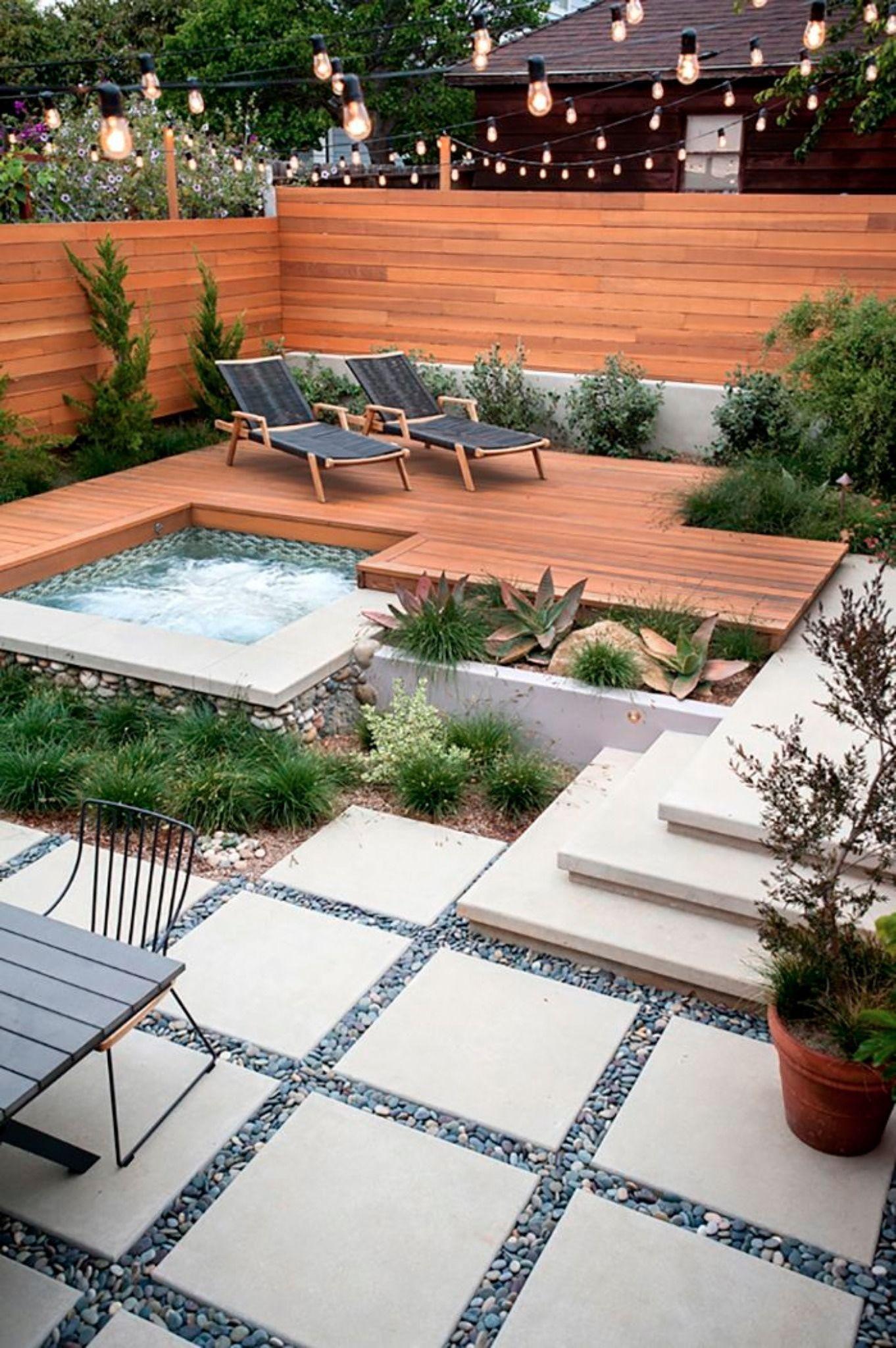 15 Jardins Repérés Sur Pinterest Dont On Aimerait Être ... encequiconcerne Aménagement Jardin Avec Spa