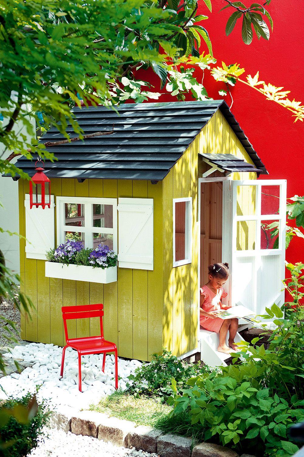 16 Idées Pour Fabriquer Une Cabane De Jardin | Diy Jardin ... tout Fabriquer Une Cabane De Jardin