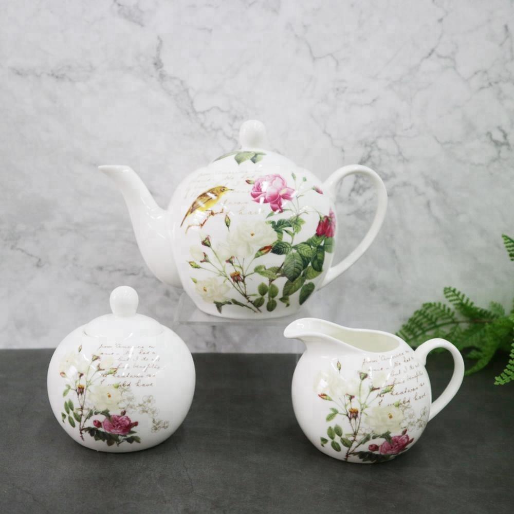 17 Pcs Roses Décalque Fine Nouvelle Porcelaine Service À Thé ... serapportantà Maisonnette Jardin Occasion