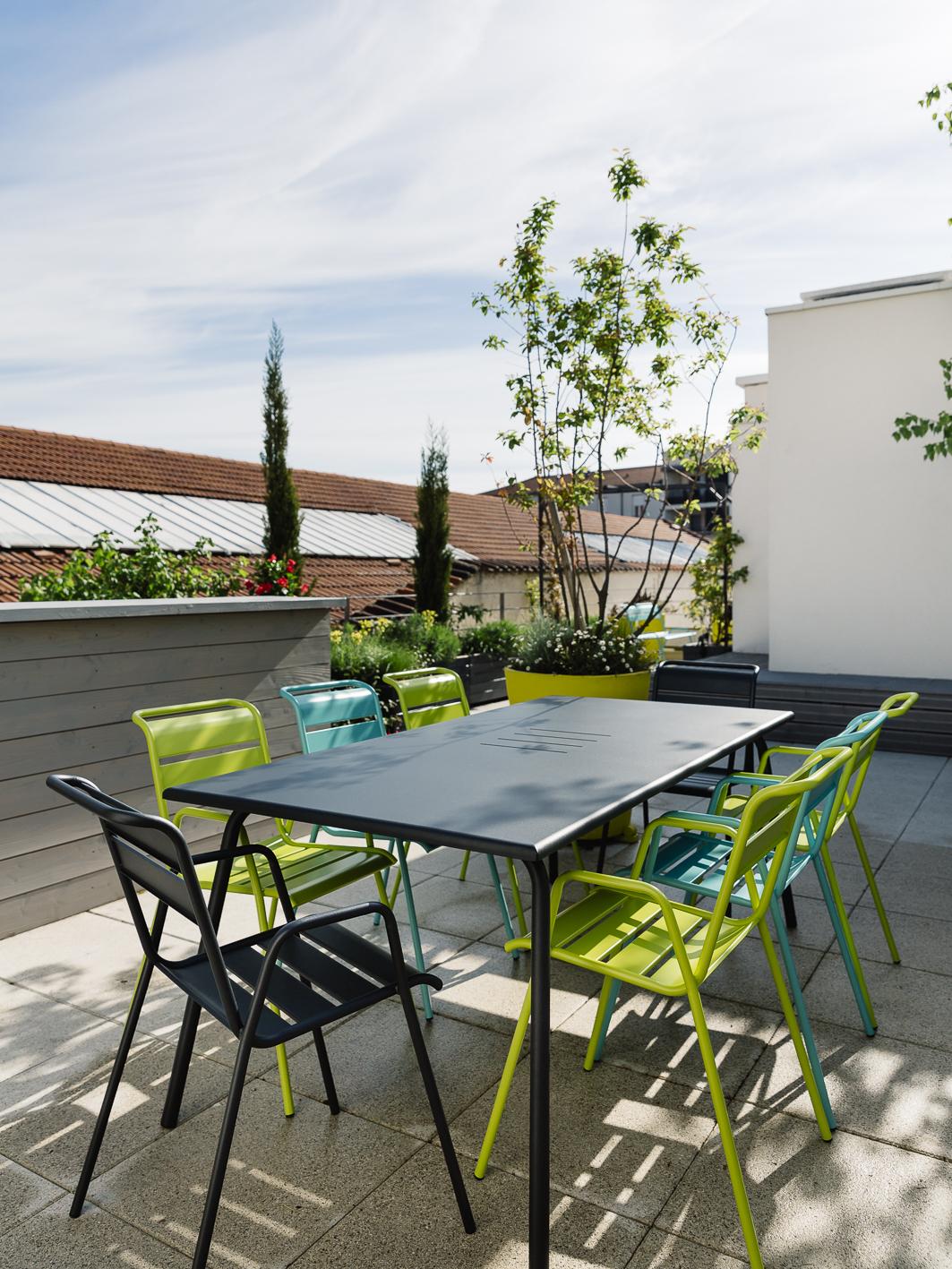 194X94 Cm Monceau Table, Garden Metal Table à Table De Jardin En Metal