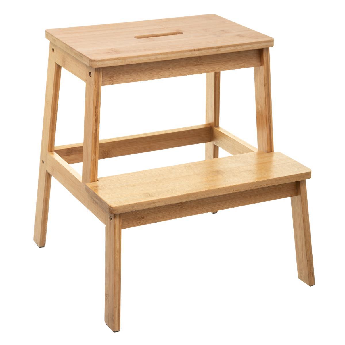 2 Couleurs Couleur : Wood Lixiong Escabeau Pliant Tabouret ... tout Escabeau Jardin
