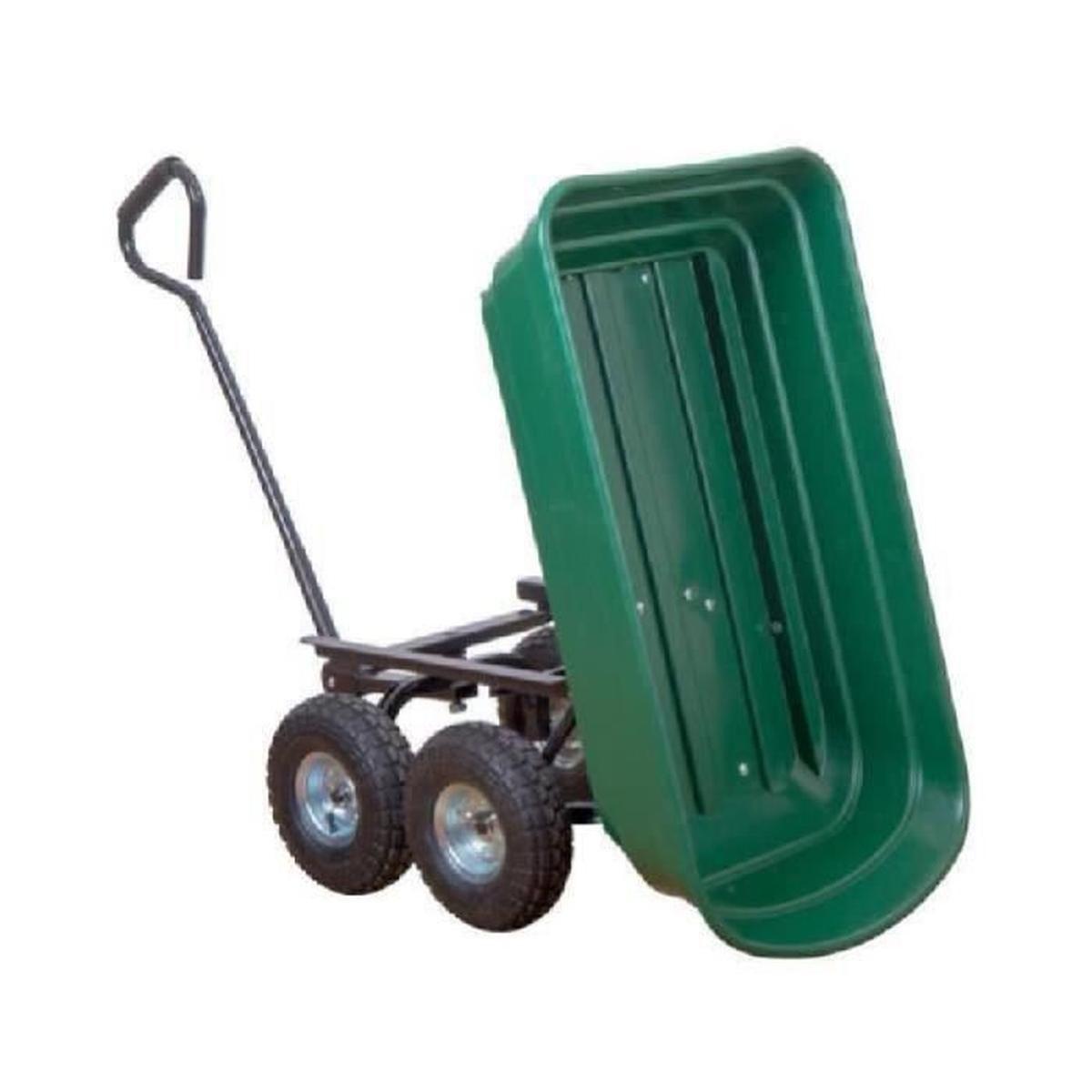2 En 1 Chariot De Jardin À Main Et Remorque Benne Basculante ... serapportantà Chariot De Jardin 4 Roues