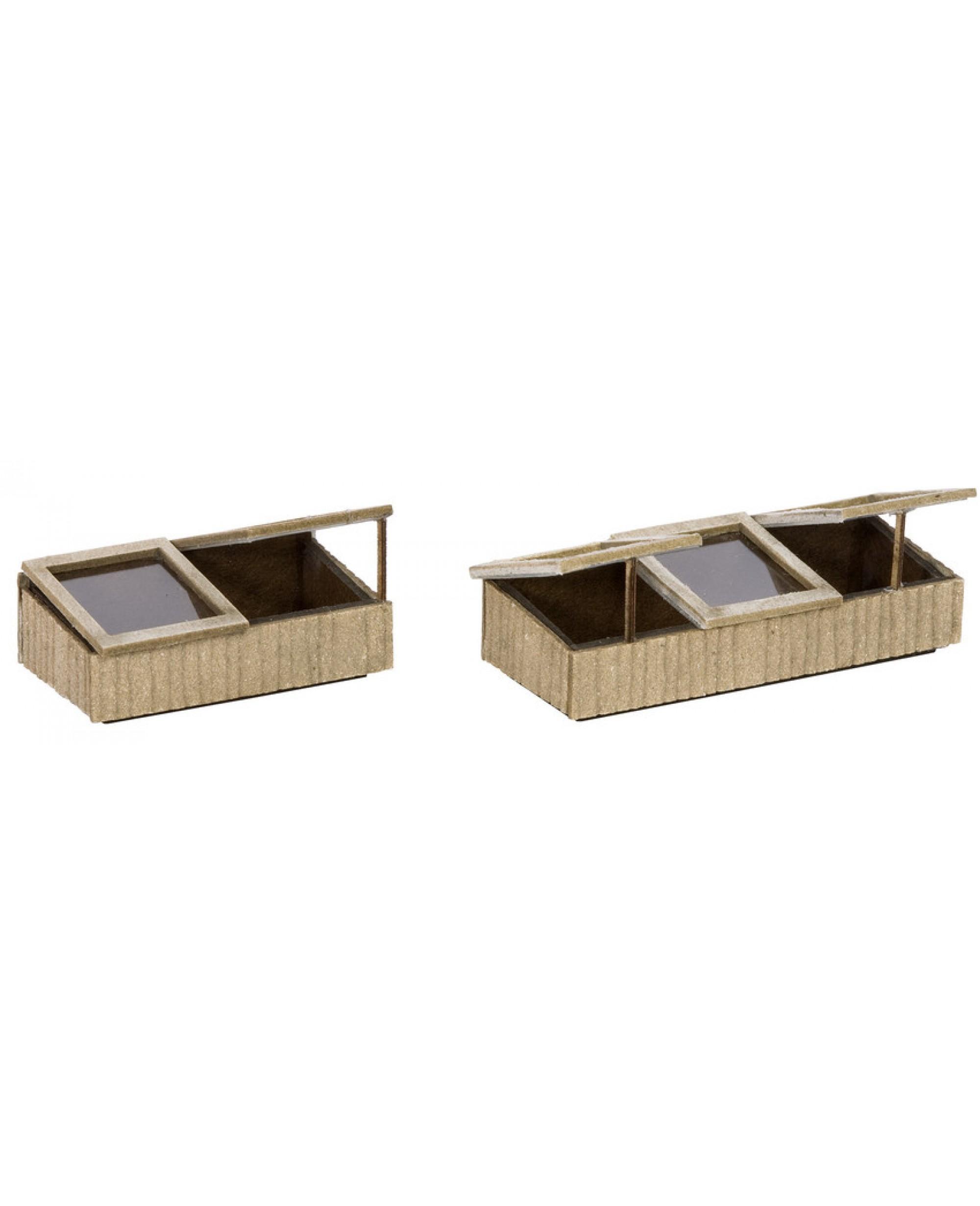 2 Petits Chassis De Jardin En Kit À Monter De Dimensions 2,6X1,6X1 Cm pour Chassis De Jardin