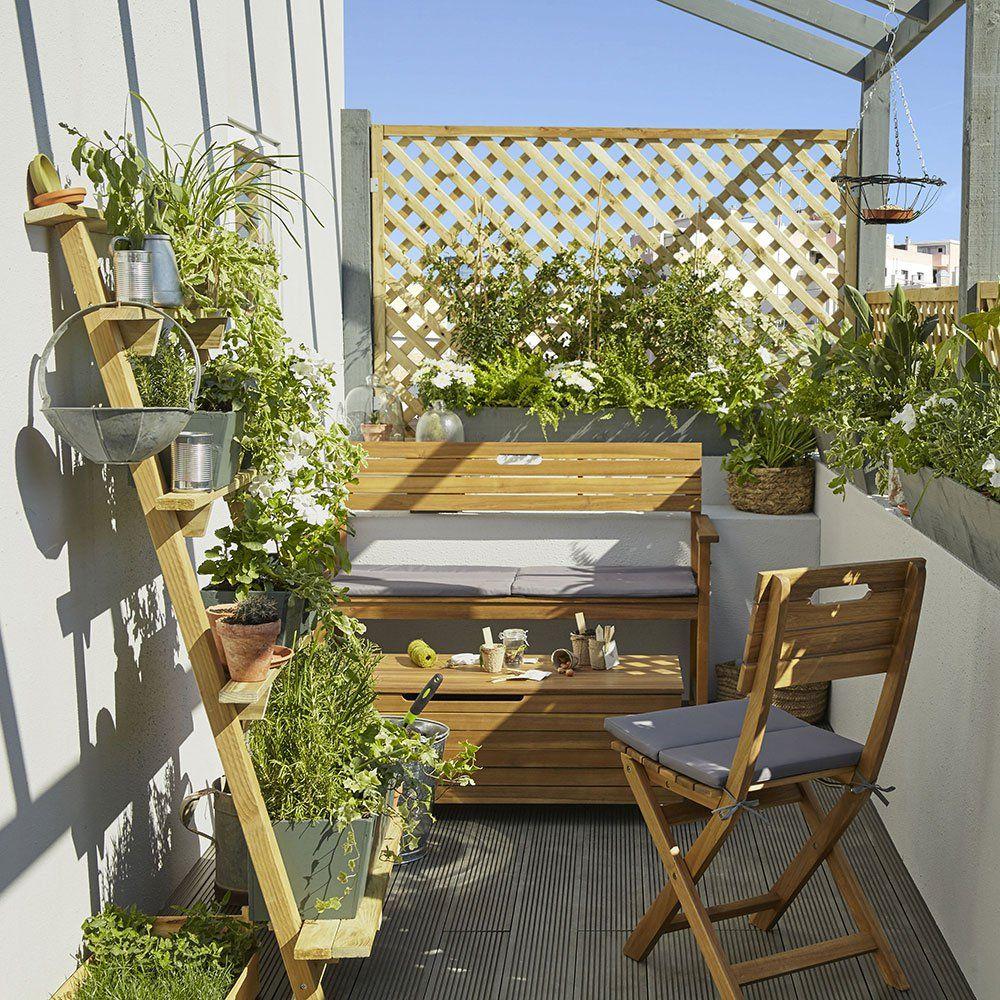 20 Meubles Chics (Et Pratiques) Pour Le Balcon ! | Beaux ... intérieur Coffre De Jardin Castorama
