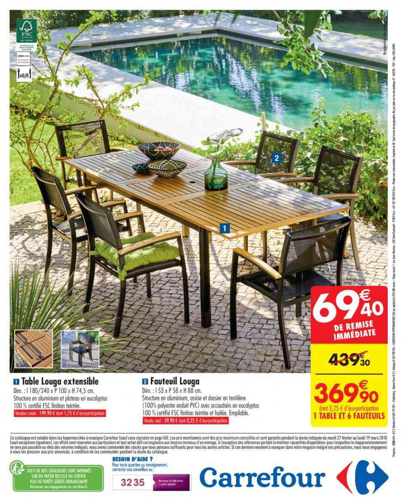 2018_Carrefour_270218_Jardin - Calameo Downloader serapportantà Table De Jardin Pliante Carrefour