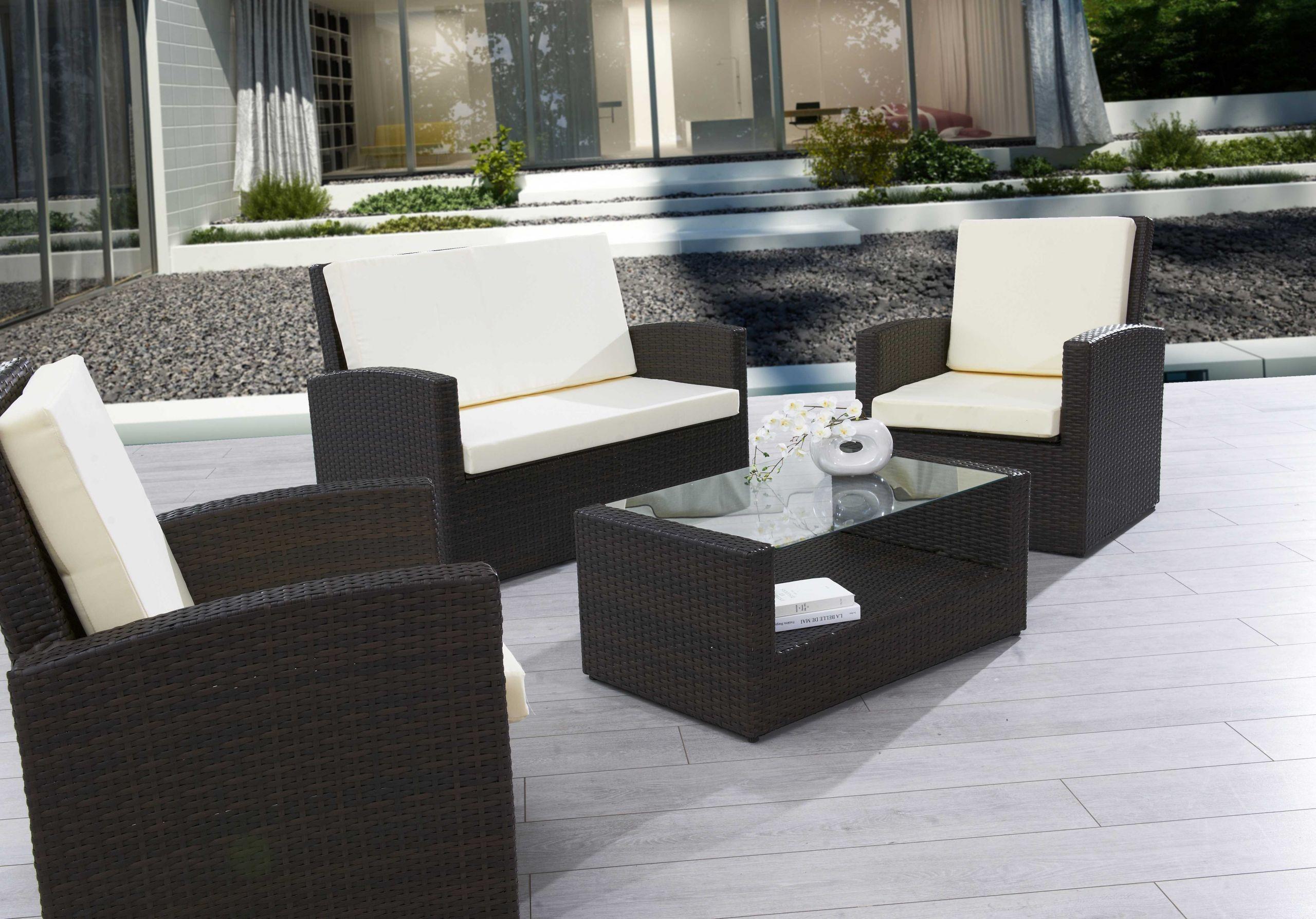 21 Luxe Salon De Jardin Resine Tressee Structure Aluminium ... avec Salon De Jardin En Résine Pas Cher
