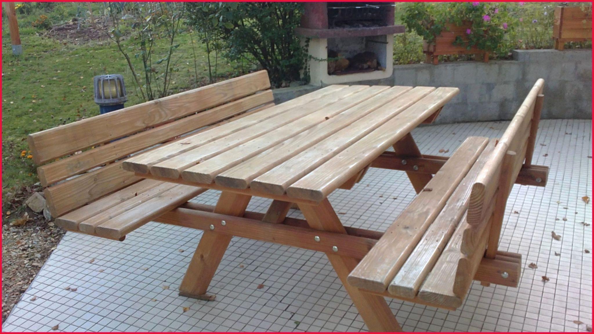 24 Charmant Table Et Banc De Jardin | Salon Jardin avec Table De Jardin En Bois Avec Banc Integre