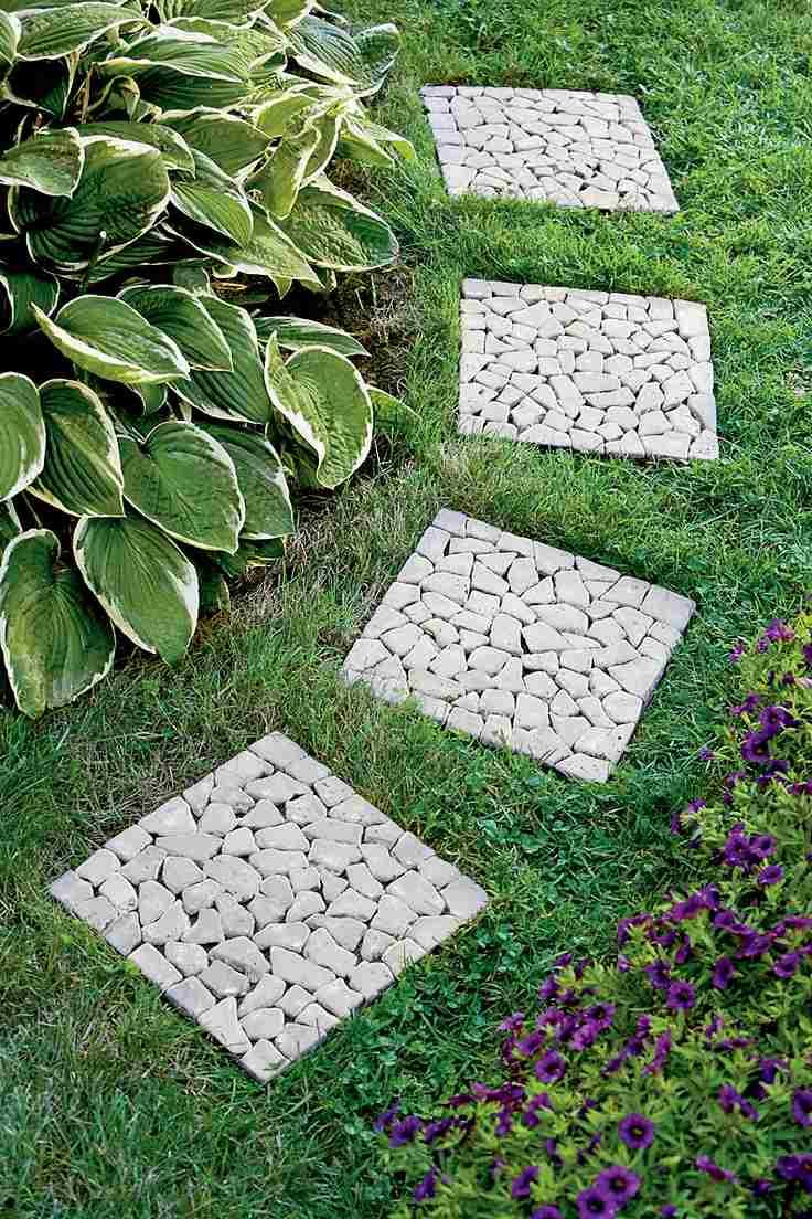 25 Idées De Design Moderne Pour Votre Chemin De Jardin ... avec Caillebotis De Jardin