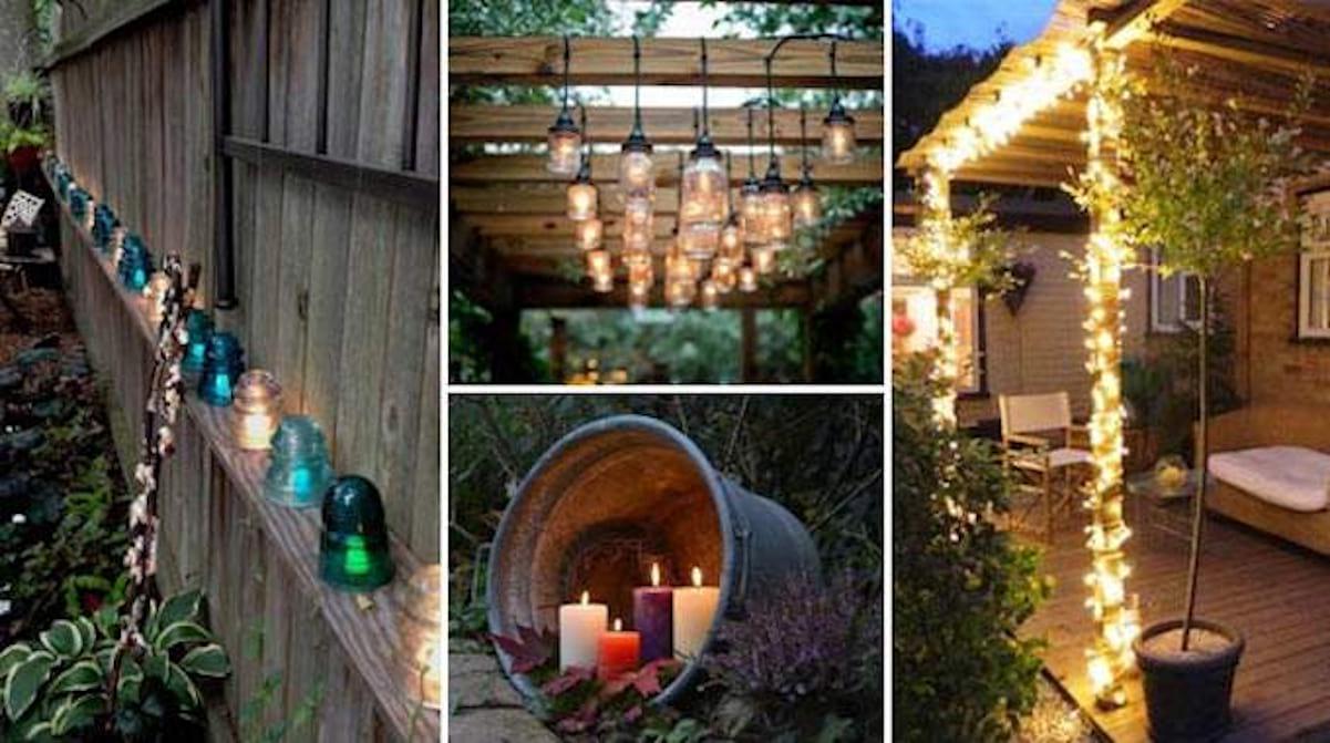 29 Super Idées D'éclairage Pour Le Jardin (Pas Chères Et ... pour Decoration De Jardin A Faire Soi Meme