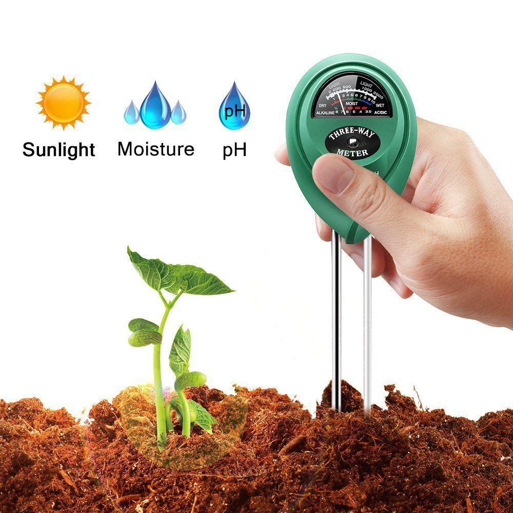 3 En 1 Testeur Plante De Jardin Fleur Ph Sol Eau Humidité ... à Testeur Ph Terre Jardin
