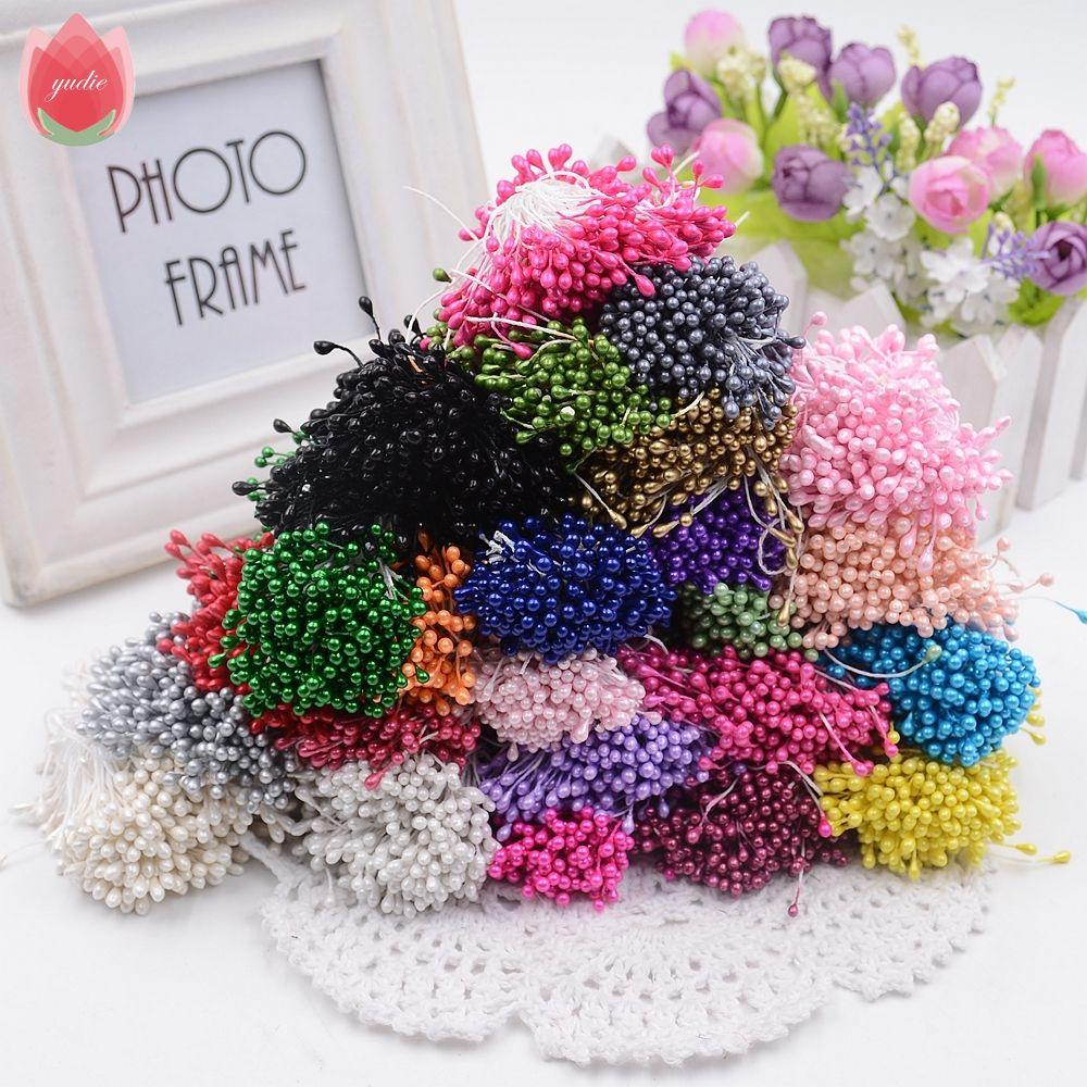 300 Pcs Mini Perle Étamine Sucre À La Main Fleur ... concernant Decoration Minerale Jardin