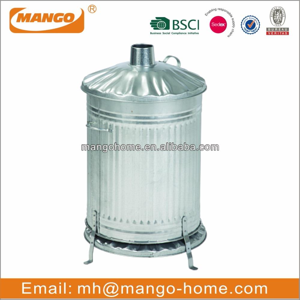 35L High Quality Galvanized Incinerator - Buy Incinerator,waste  Incinerator,waste Bin Product On Alibaba à Incinerateur De Jardin