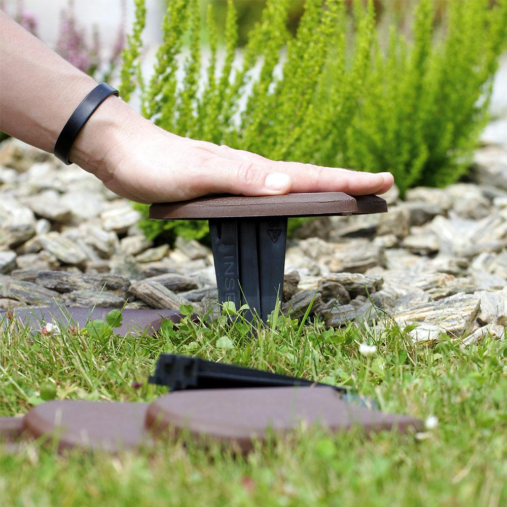 3,8M Bordure De Jardin Terre Cuite Rebord De Jardin Palisade ... intérieur Bordure Jardin Caoutchouc