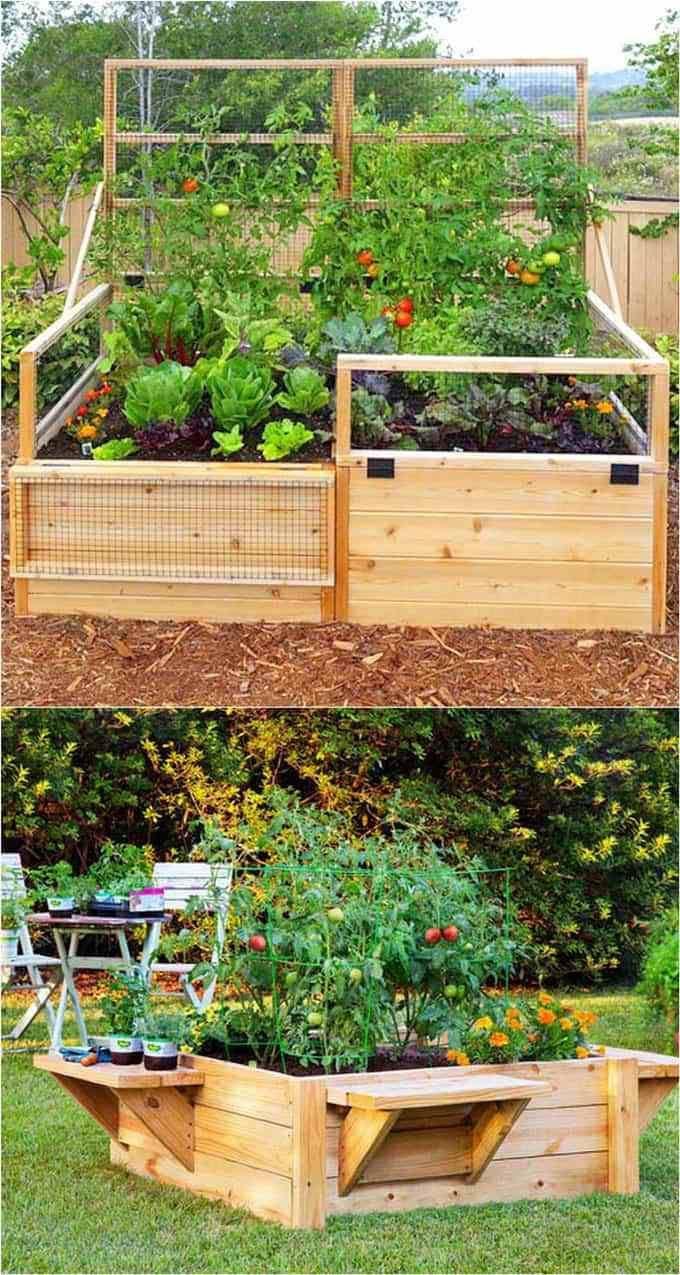 39+ Idées De Lit De Jardin Surélevé Simples 2019 ... avec Jardin Surélevé Bois
