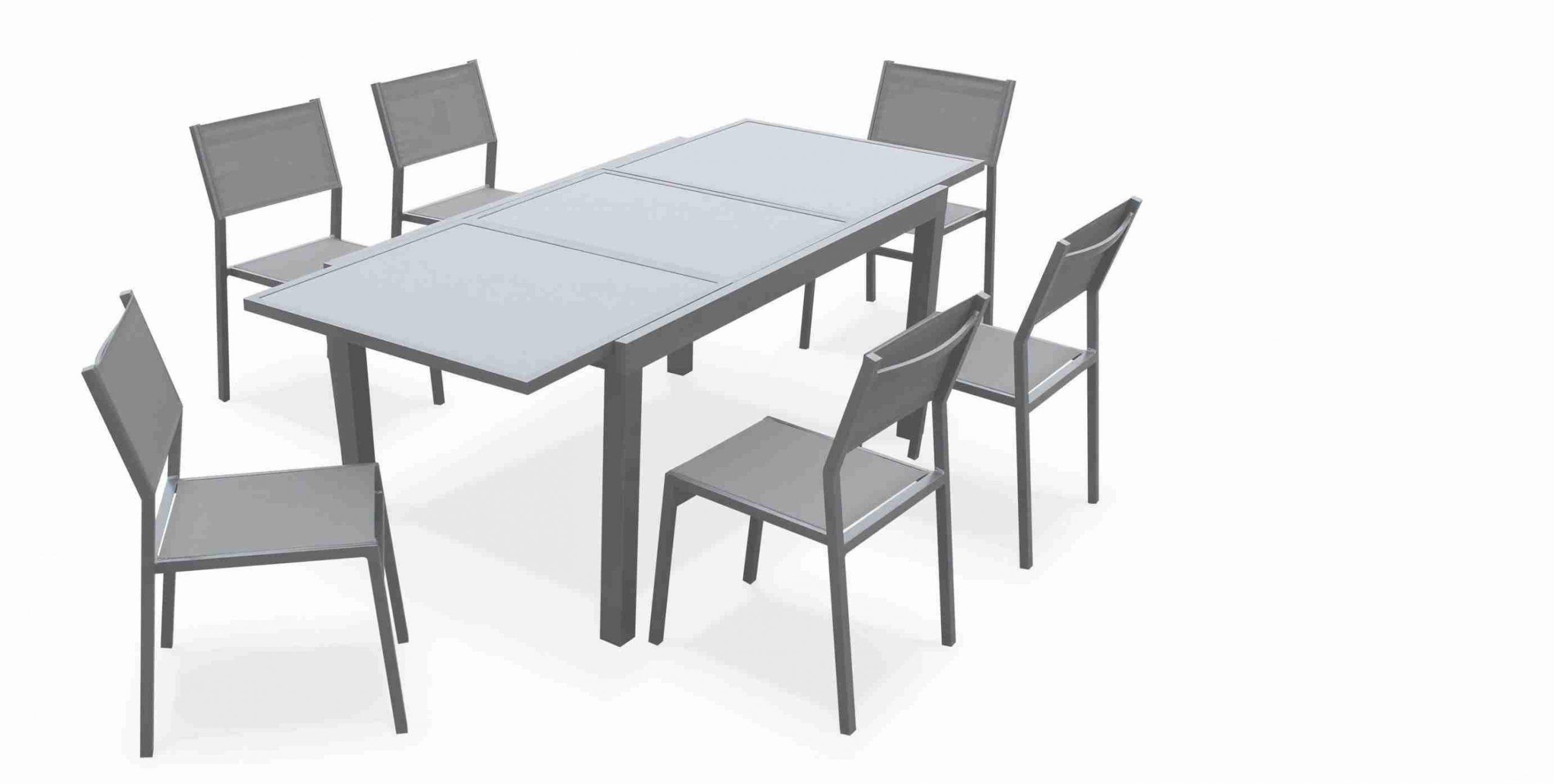 4 X Chaises De Jardin En Aluminium Pas Cher 180 Chaise De ... concernant Table De Jardin En Aluminium Avec Rallonge