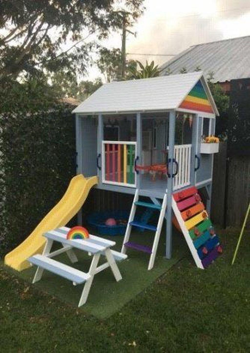 40+ Astonishing Backyard Playground Design Ideas To Try Asap ... encequiconcerne Maison De Jardin Pour Enfant