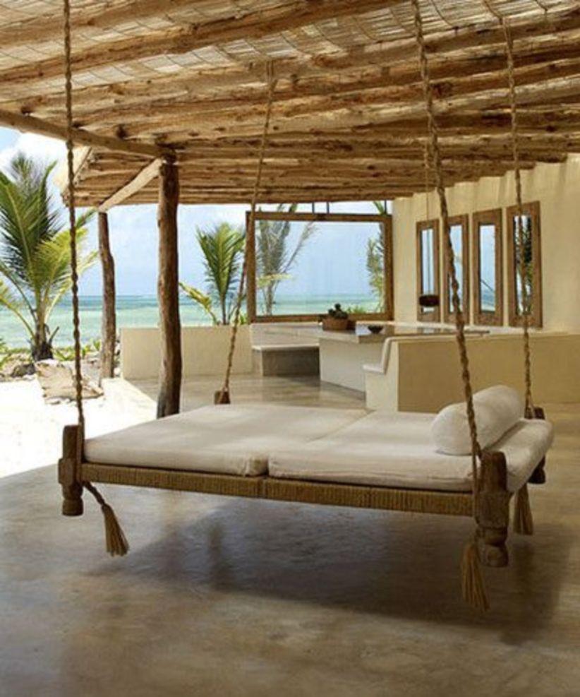41 Adorable Floating Bed Design And Decorating Ideas For ... dedans Lit Suspendu Jardin