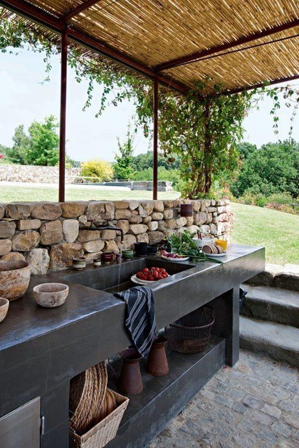 42 Stunning Summer Kitchen Outdoor Ideas | Cuisine Exterieur ... pour Évier Extérieur Jardin
