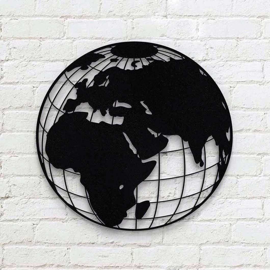 42Cm Yuvarlak Dünya Metal Tablo   Tablolar, Oymacılık, Sanat dedans Materiel De Jardin Discount