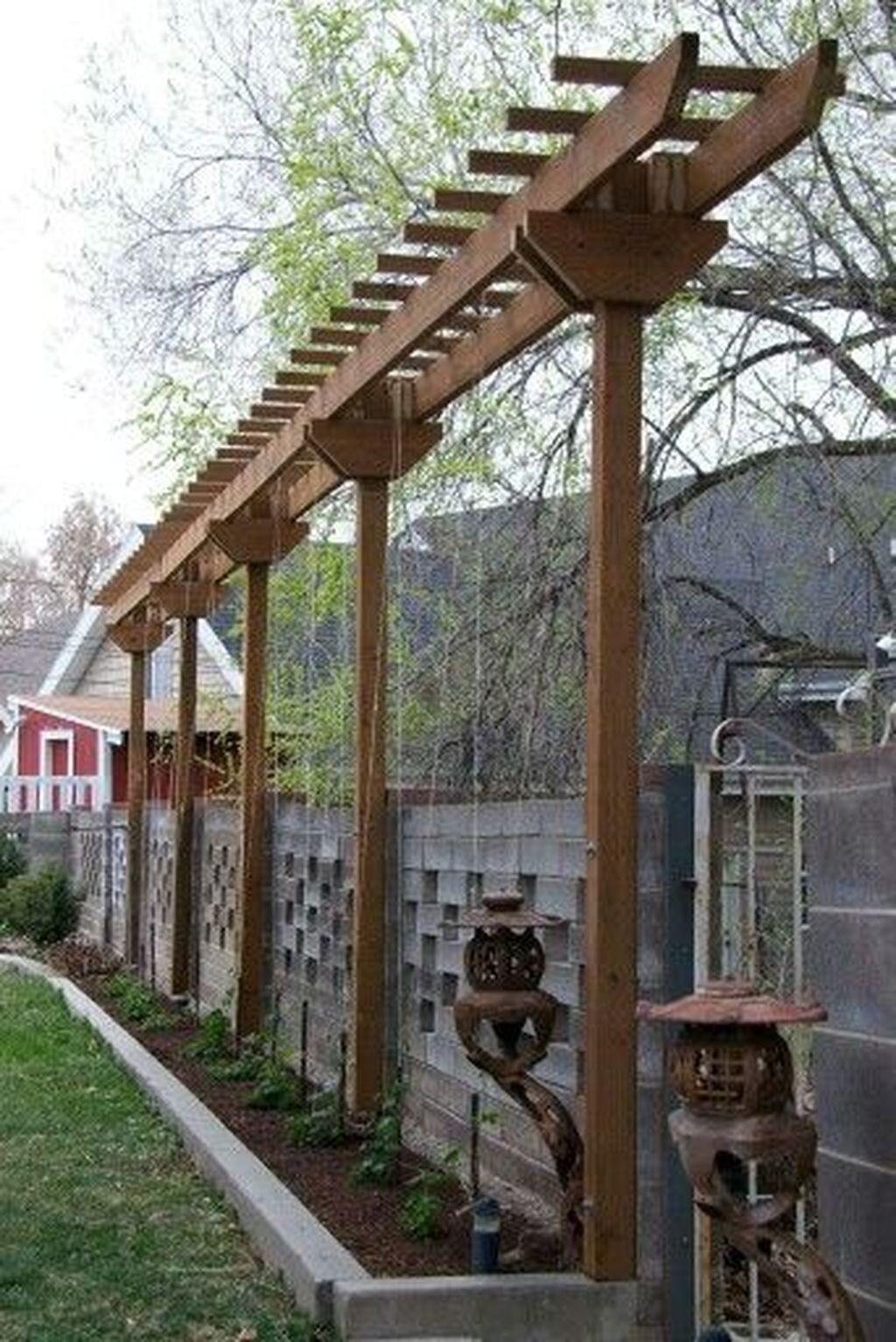 44 Awesome Pergola Trellis Ideas For Your Front Yard ... intérieur Treillis Metal Jardin