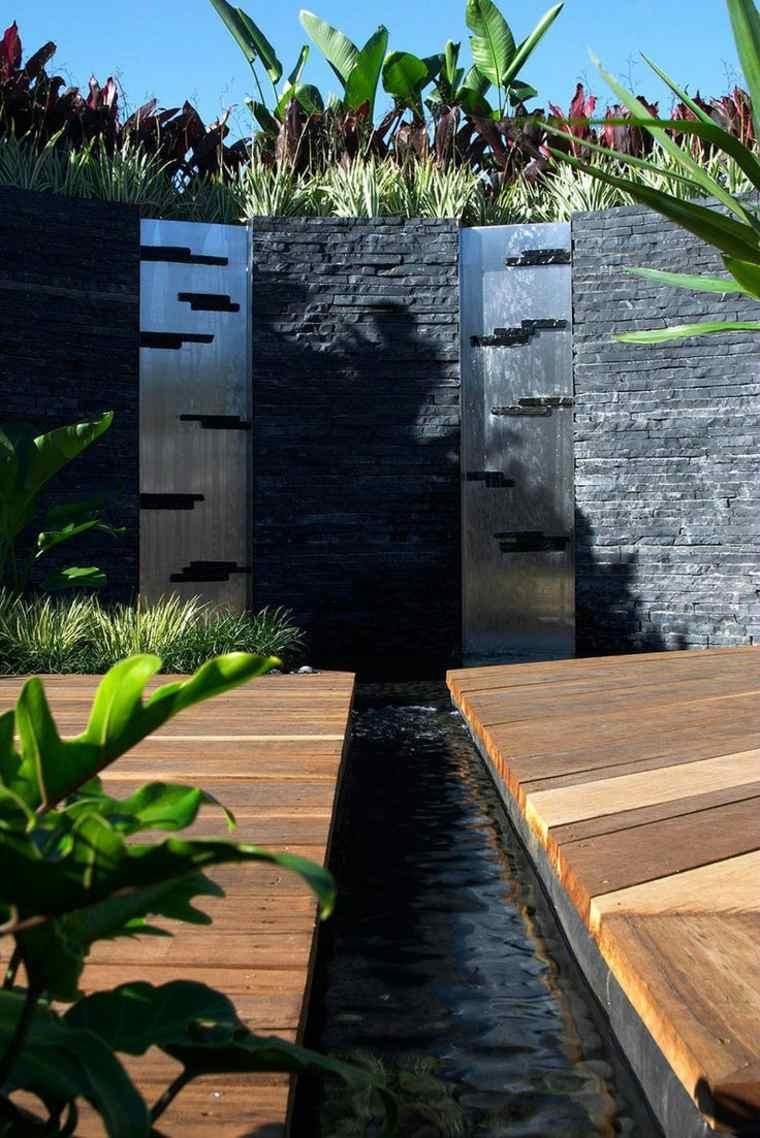 48 Idées D'un Mur D'eau Original Pour Votre Jardin avec Petit Muret En Pierre Pour Jardin