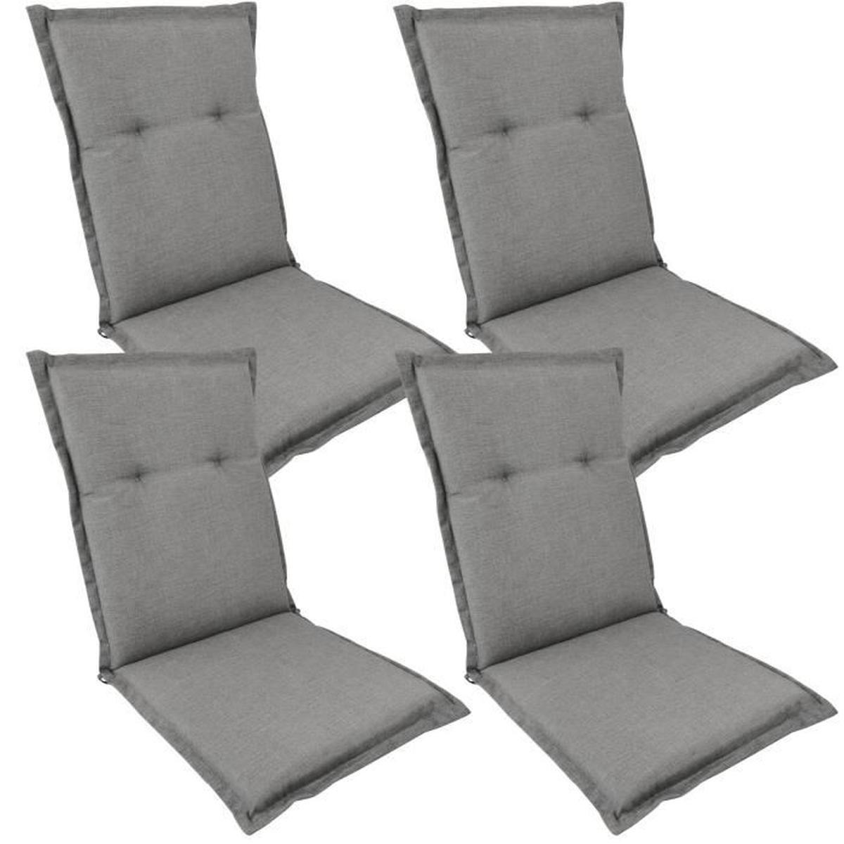 4X Coussins Pour Chaises Pliantes De Jardin 'comfort' 108 X ... pour Coussins Pour Chaises De Jardin