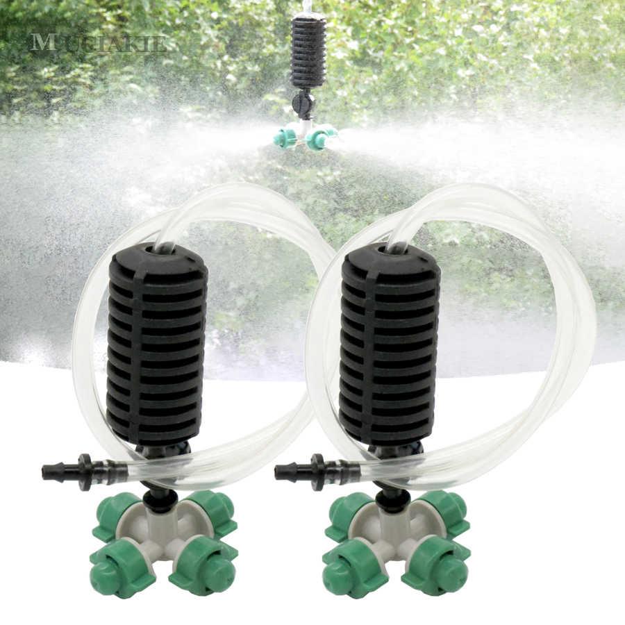 5 Kits Jardin Serre Brumisateur Hydro Refroidissement Humidifiant  Irrigation Kit Système Arrosage Croix Brumisateur Buse Pulvérisation concernant Brumisateur Jardin