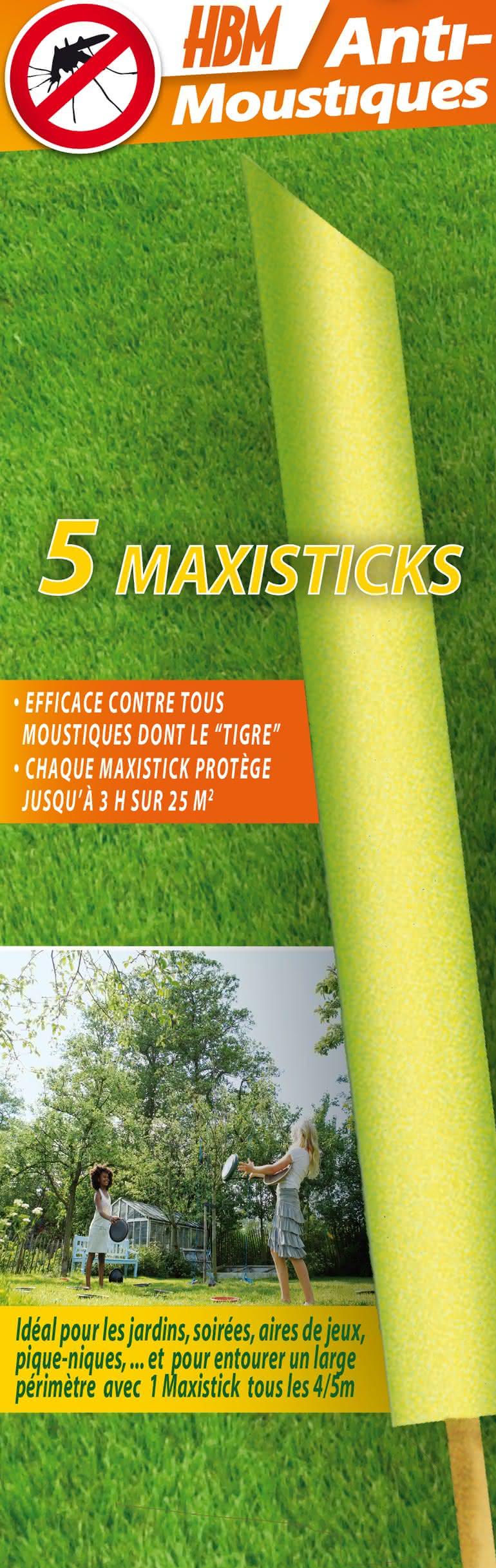 5 Maxisticks Anti-Moustiques De Jardin - Moustiquesolutions avec Anti Moustique Jardin