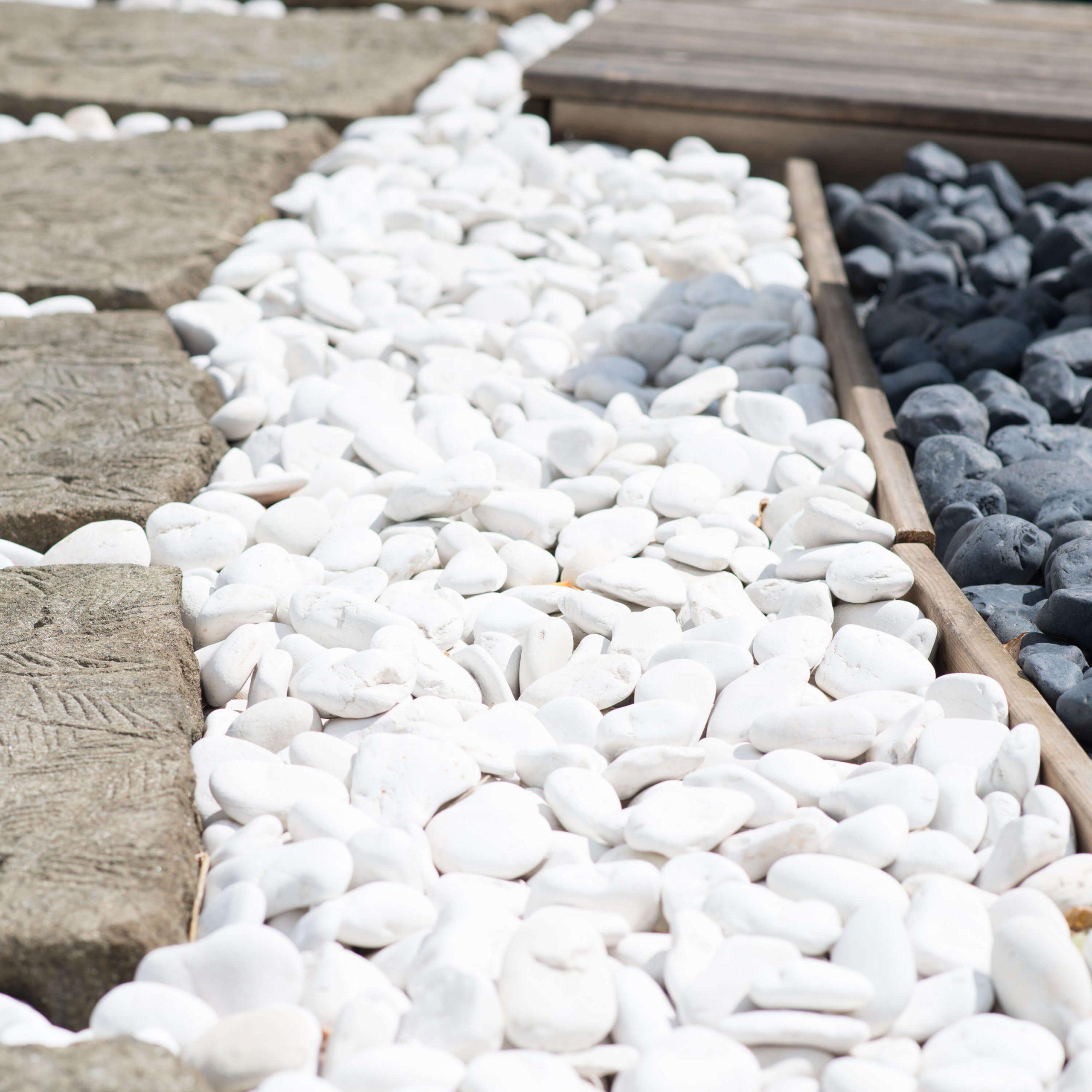 5 Sacs De Galet Blanc De 10Kg à Galets Blancs Pour Jardin