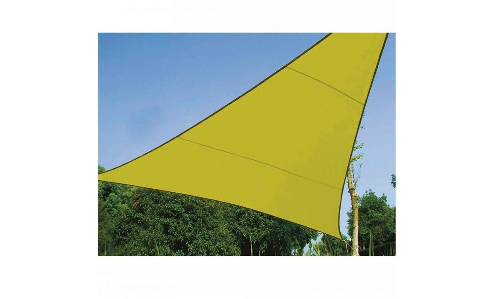 5 X 5 X 5 M Voile D'ombrage Triangle 5 M, Ideale Pour Votre Jardin Et Vos  Terrasses. Tres Belle Toile Couleur Vert Anis concernant Toile Jardin Triangle