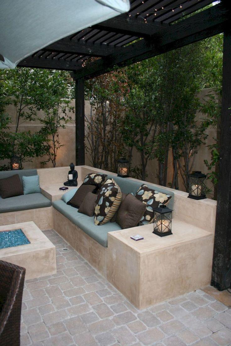50+ Amazing Diy Bench Seating Area Backyard Landscaping ... intérieur Amenagement Mur Jardin