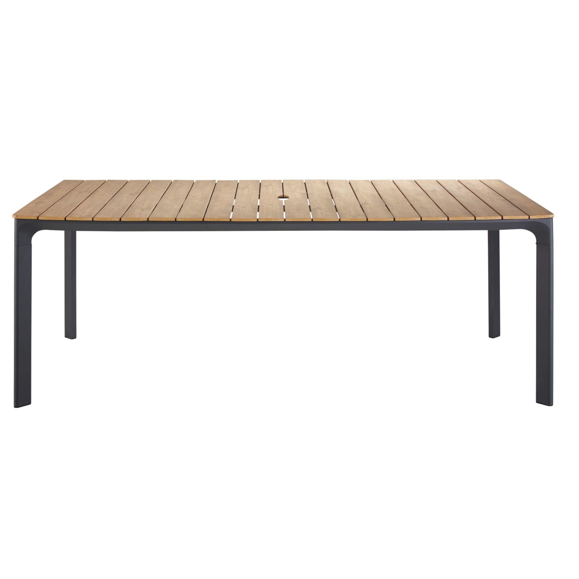 6-8 Seater Aluminium And Composite Garden Table L200 ... tout Table De Jardin Aluminium Et Composite