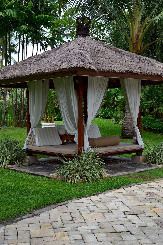 75 Cozy Backyard Gazebo Design Ideas | Meuble Jardin ... pour Salon De Jardin En Pierre