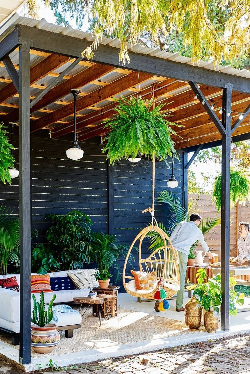 8 Creative Deck Inspirations To Fill Backyard | Idées ... dedans Pergola Castorama Jardin