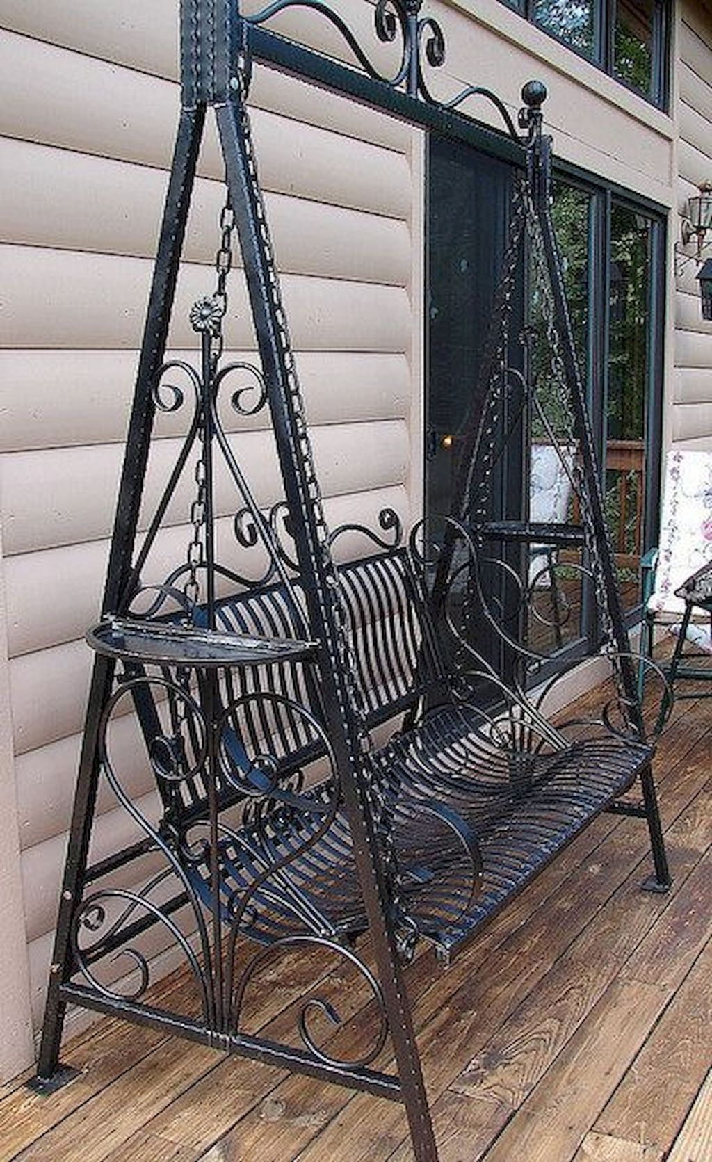 80 Awesome Garden Swing Seats Ideas For Backyard Relaxing ... encequiconcerne Balancelle Fer Forgé Jardin
