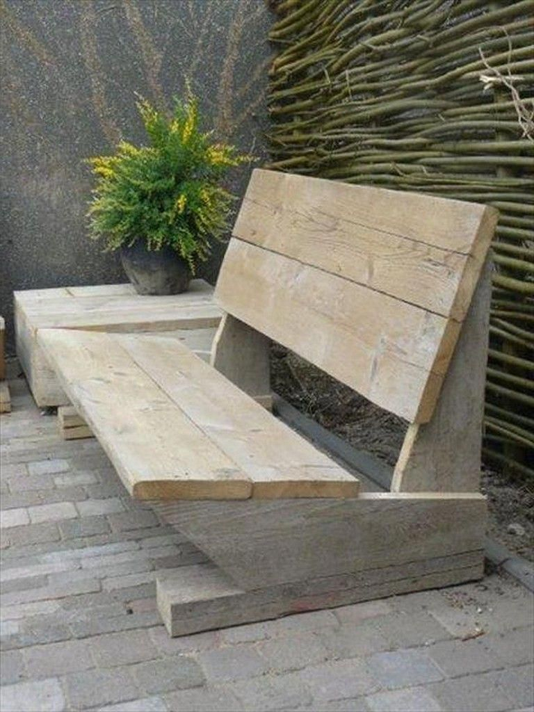 9 Awesome Diy Woodworking Bench Ideas That Full Of ... tout Salon De Jardin En Bois Pas Cher