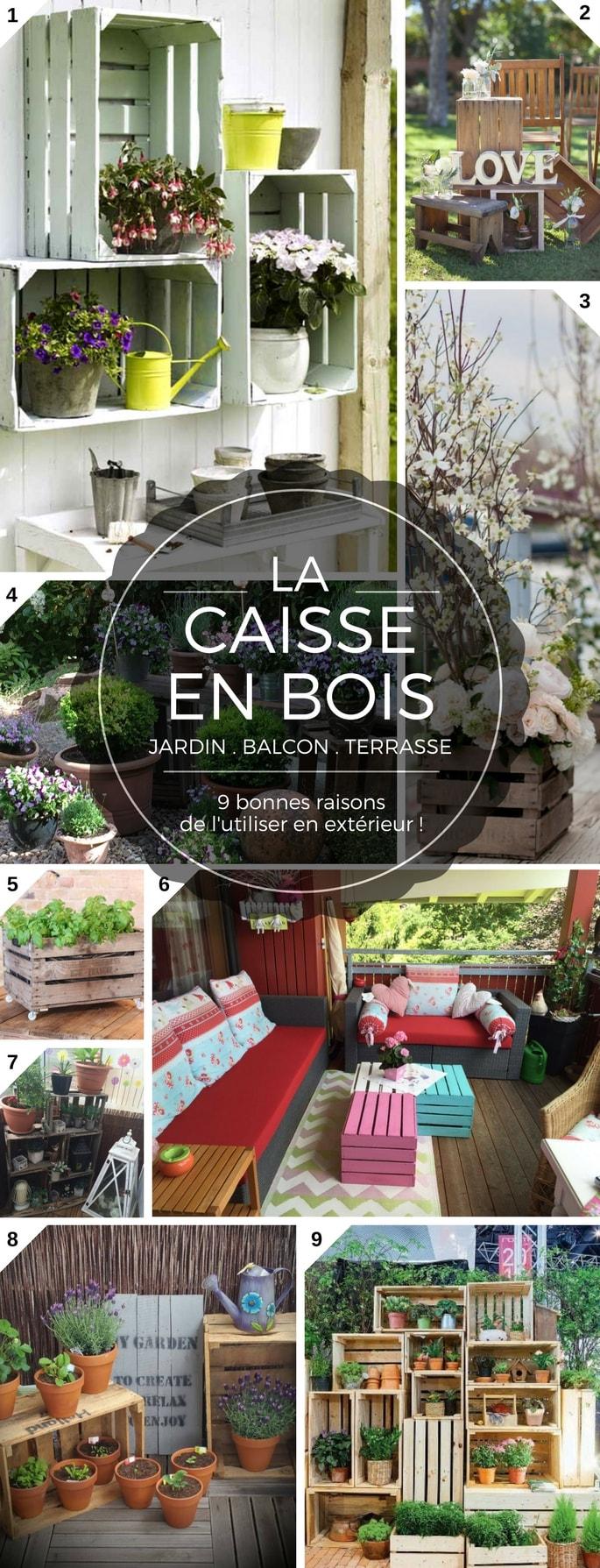 9 Bonnes Raisons D'utiliser La Caisse En Bois Pour Le Balcon ... serapportantà Decoration De Jardin A Faire Soi Meme