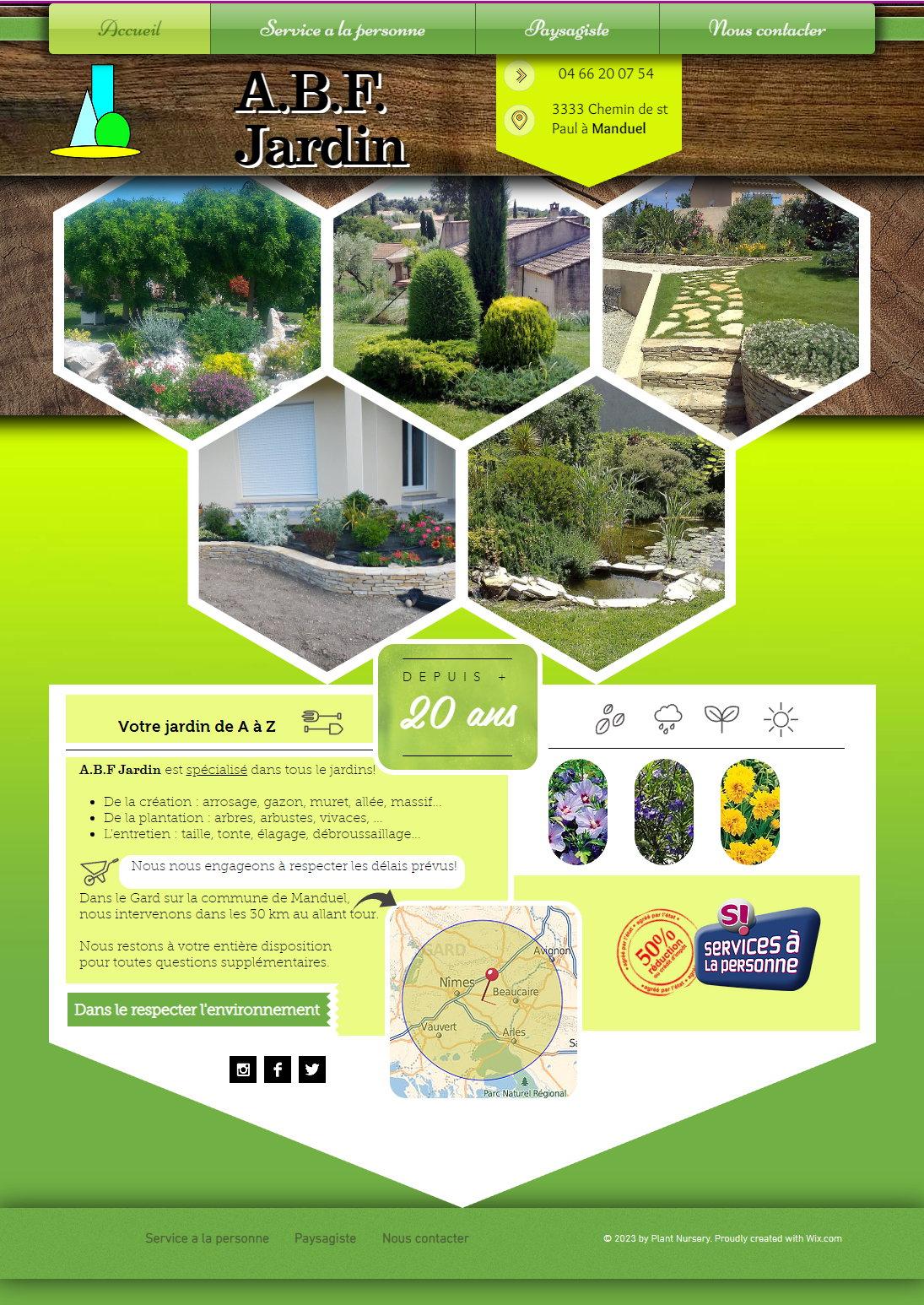 Abf Jardin Paysagiste Dans Toute La Région De Nimes. Votre ... encequiconcerne Specialiste Du Jardin