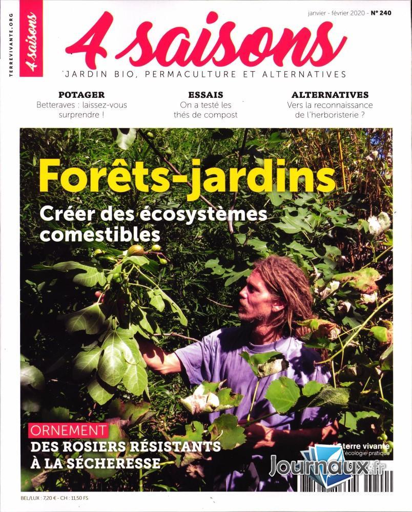 Abonnement Les 4 Saisons Du Jardin Bio - Presse De France à Jardiner Bio Magazine