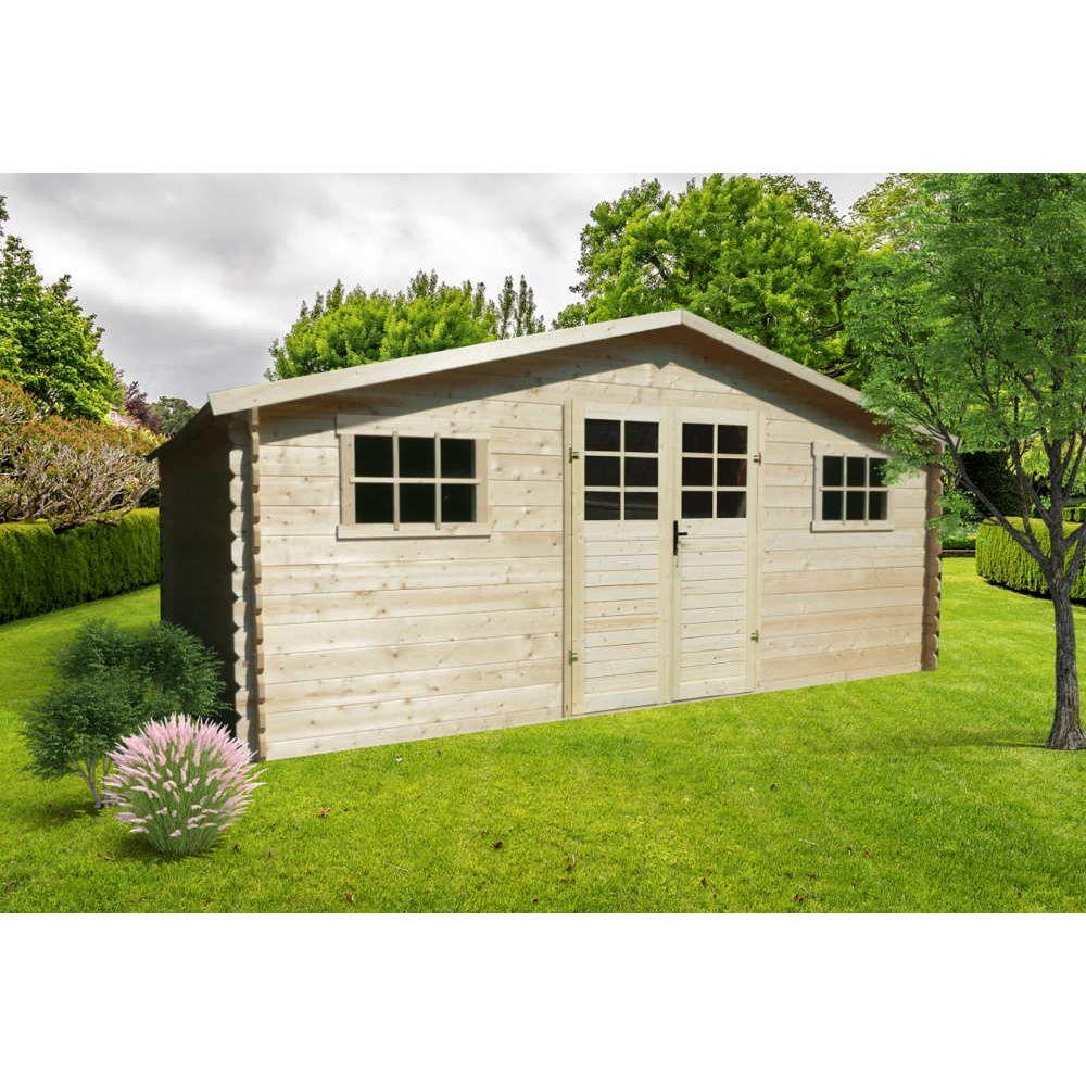 Abri 28Mm 508X388Cm 17,65M² encequiconcerne Destockage Abri Jardin Bois