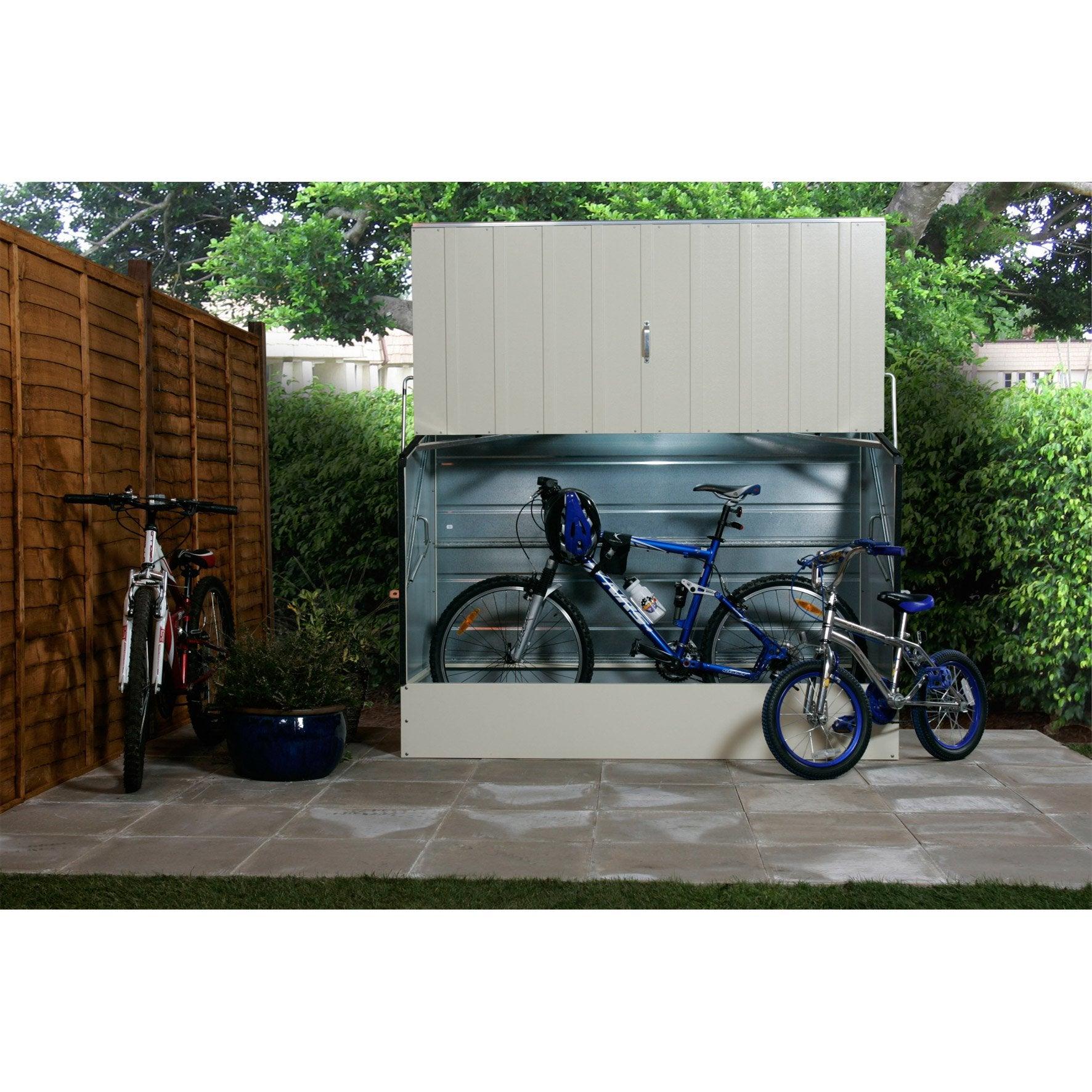 Abri À Vélo Métal Bicycle Store, Crème, L.196 X H.133 X P.89 ... pour Trimetals Abri Jardin