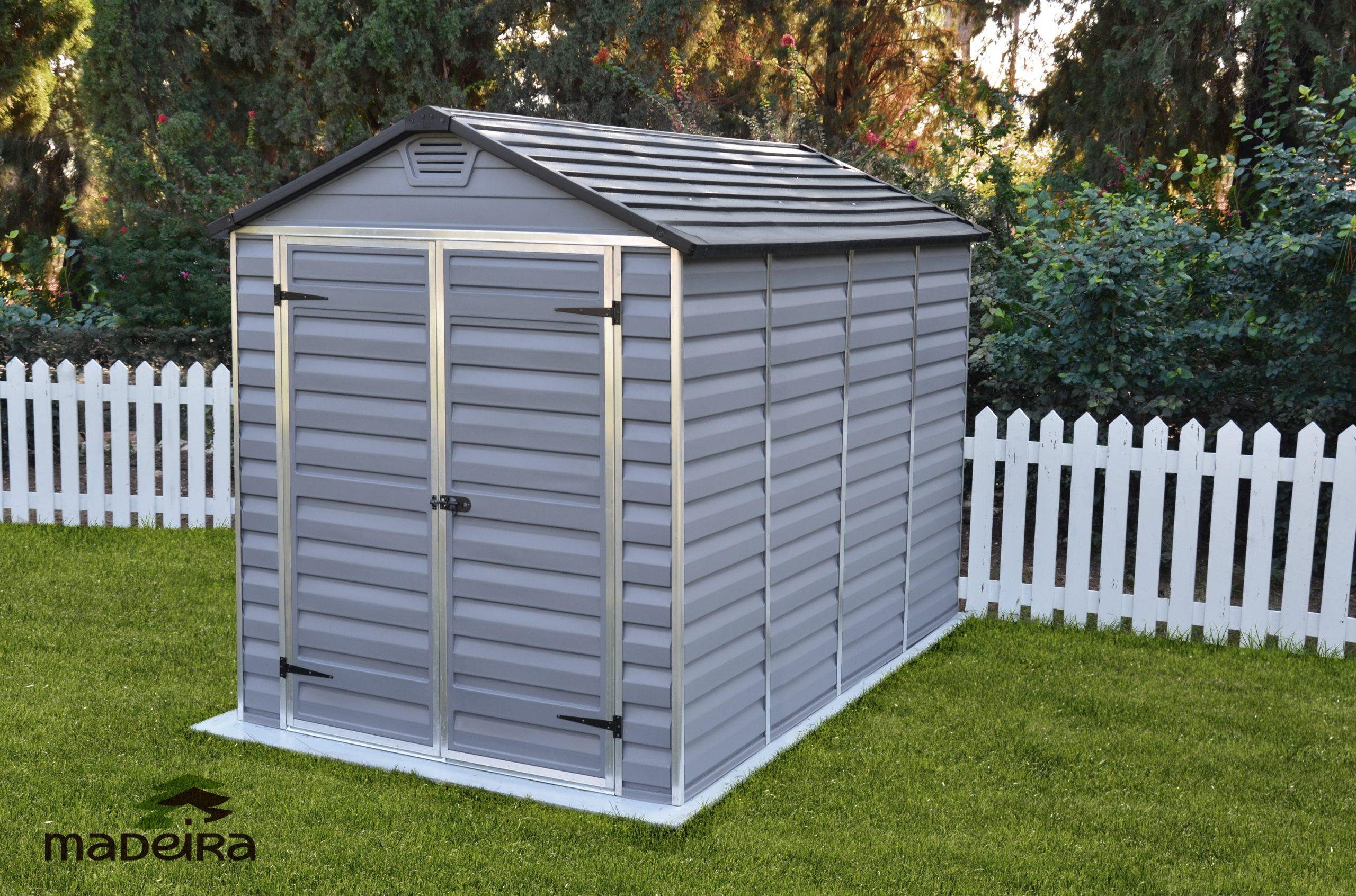 Abri Andy En Résine (Polycarbonate) Avec Plancher, 5.90M² ... dedans Abris De Jardin Avec Plancher