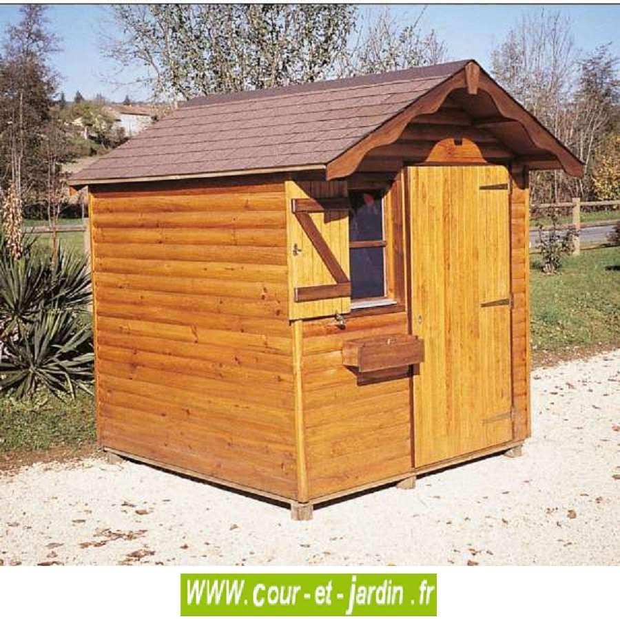 Abri Bois Alsace 4M² - Abris Et Rangements- Cour Et Jardin concernant Abri De Jardin 4M2
