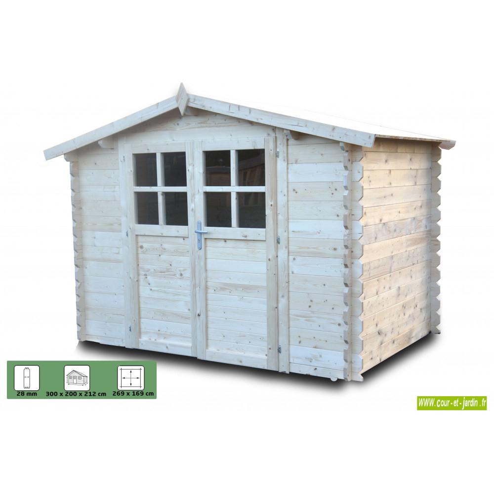 Abri Bois Azur 6M² - Abris Et Rangements- Cour Et Jardin concernant Abri De Jardin 3X2